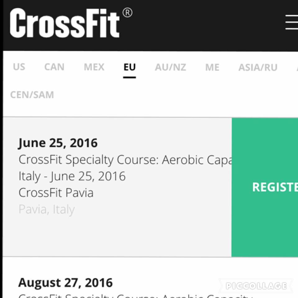 CrossFit Aerobic Capacity Course