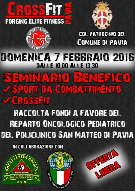 Evento benefico di CrossFit ed arti marziali (con il patrocinio del Comune di Pavia)