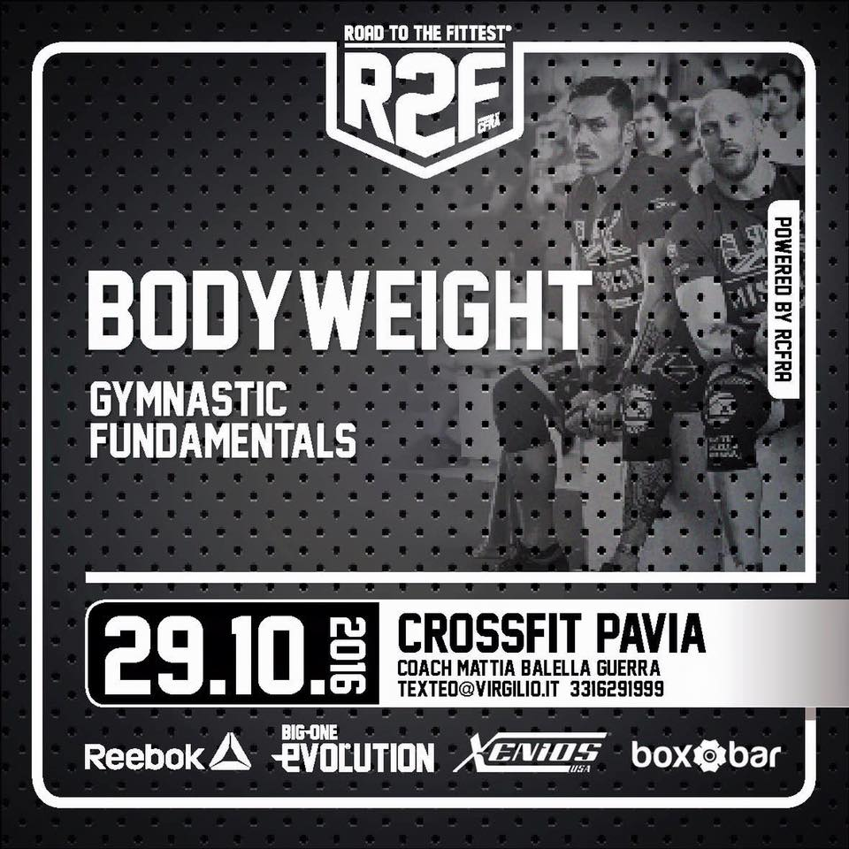 IMPERDIBILE WORKSHOP BODYWEIGHT a Pavia 29.10.16