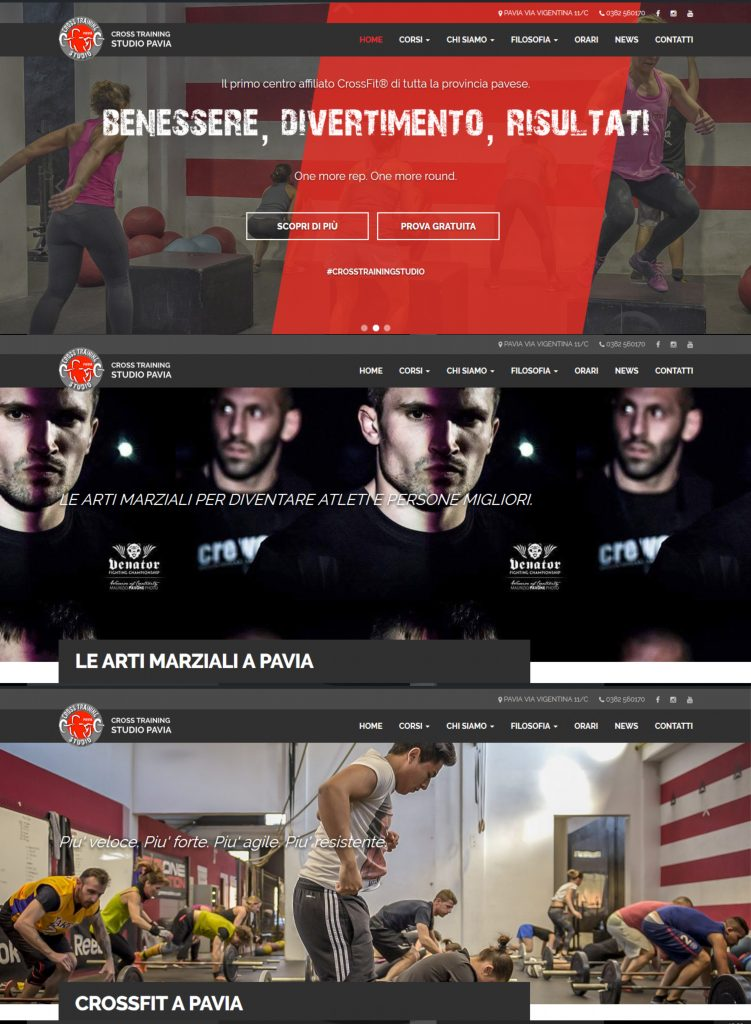 Relaunch del sito Cross Training Studio Pavia