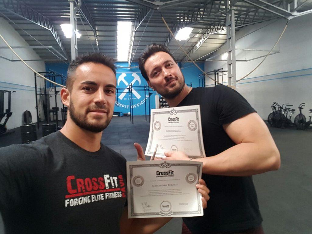 CrossFit Level 2 Certificate course a Milano per i nostri coach Alessandro e Matteo